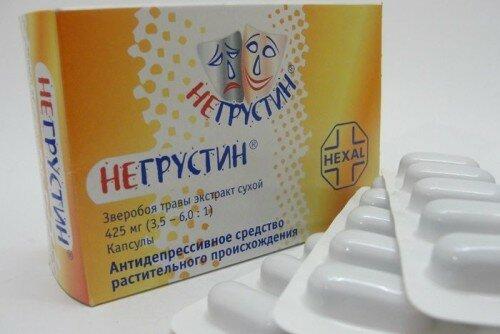таблетки Негрустин от ВСД